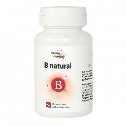 Vitamina B Natural 60cpr Dacia Plant vitamix poza