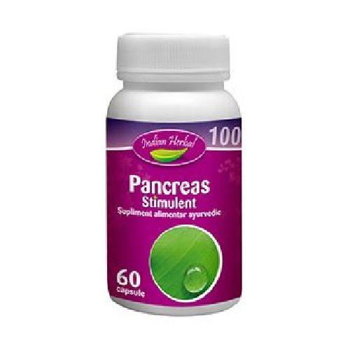 Pancreas Stimulent 60cps Indian Herbal vitamix poza