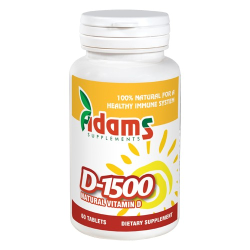 Vitamina D-1500 60 tablete Adams Supplements