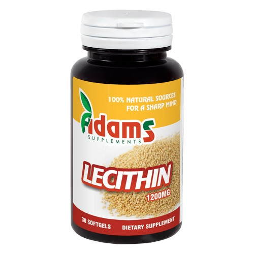 Lecithin 1200mg 30cps Adams Supplements