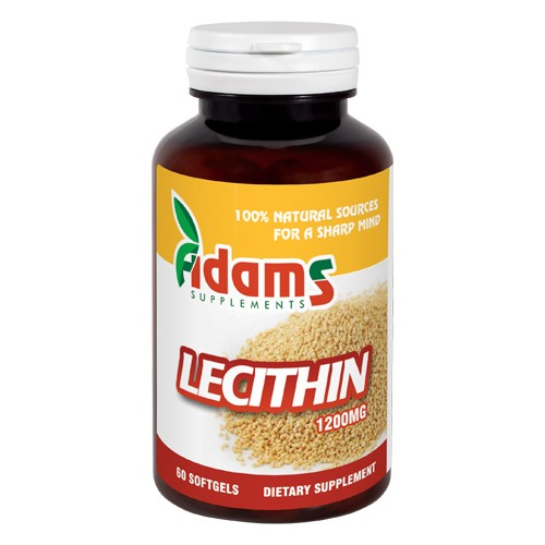 Lecithin 1200mg 60 Capsule Adams Supplements