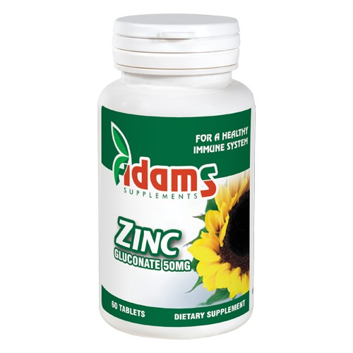 Zinc 50mg 60 tablete Adams Supplements imgine