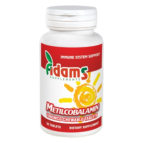 Metilcobalamina 1000mcg 30tab Adams Supplements vitamix poza