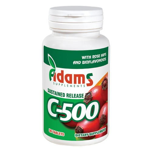 Vitamina C-500 cu Macese 30tab Adams Supplements imgine
