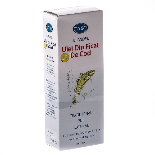 Ulei din Ficat de Cod Natural 240ml Lysi