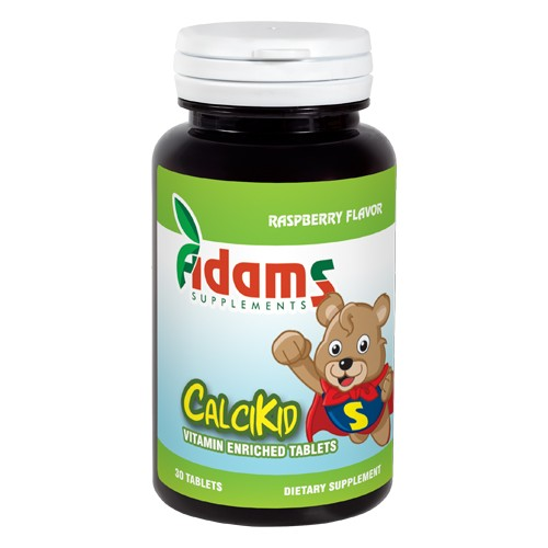 CalciKid 30tablete masticabile Adams Supplements