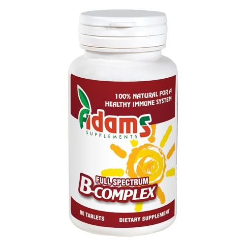 B complex 90 tablete Adams Supplements vitamix poza